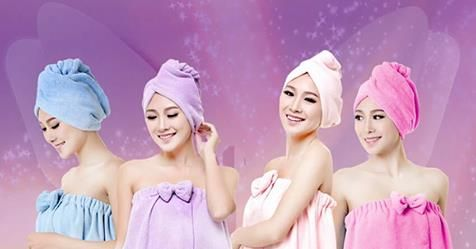 Magic Bath Microfiber Plain Towel Skirt Dry Hair Cap Toalla Serviette De Plage  $25.00 You save 16% off the regular price of $30.00