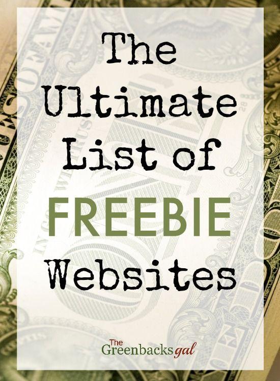 The Ultimate List of Freebie Websites Who doesnu2019t love a freebie? I love to… – Designer.ca