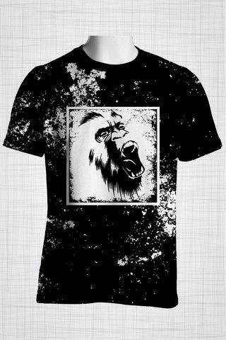 Plus Size Men's Clothing Wild Monkey t-shirt Wild Grunge Collection - Plus size men's clothing Fabric for this t-shirt is a lightweight polyester cotton fabric that,  * absorbs moisture  * transfers body perspiration away from the skin  * breathable and lightweight * tear resistant  * shrink resistant * quick drying  * comfortable T-shirts have a crewneck neckline.  #plussizemensclothing #plussizemenswear#plussizeclothing# plussizeboutique#plussize #plussizeshirts…