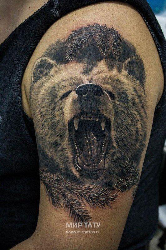 Значение тату медведь - tattoohacom