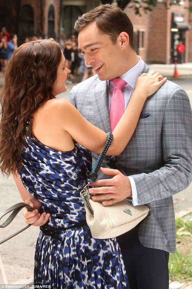 On-screen lovers: Leighton Meester and Ed Westwick portrayed lovers together for six years...