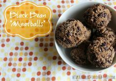 Black Bean Meatballs- added worcestershire sauce and soy sauce, and a bit of tomato paste.