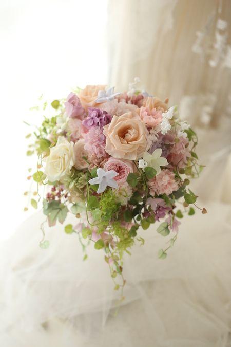 プリザーブドフラワーブーケ ステンドグラス 帝国ホテル様へ : 一会 ウエディングの花