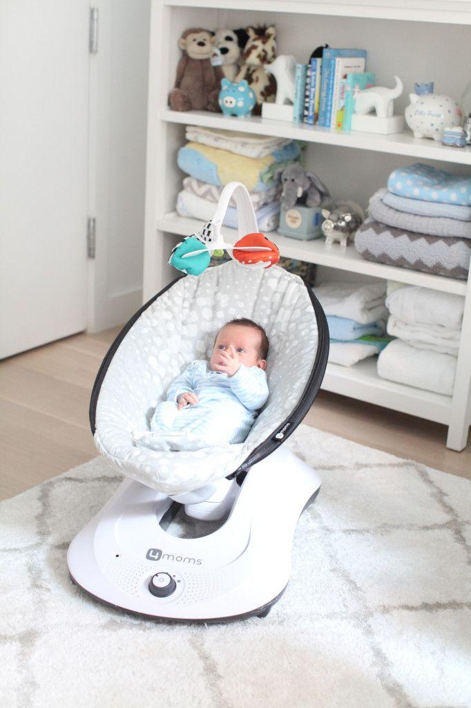 Amanda Saiontz Gluck of Fashionable Hostess reviews the 4moms 'rocaRoo' swing for newborns.