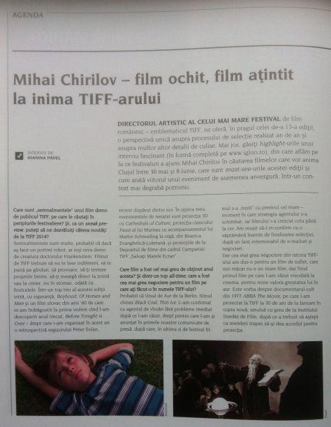 tiff-chirilov-interviu-filmofilia1 #TIFF2014