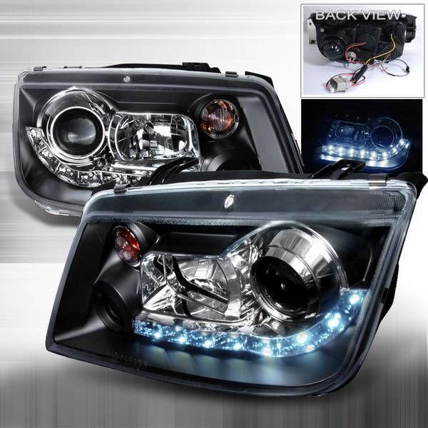 Junyan 99-05 VW Jetta R8 Halo Projector HeadLights -Black