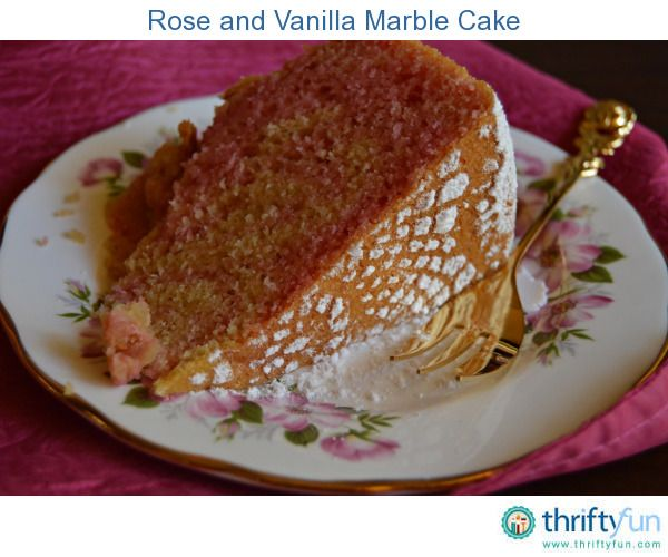 A delicious gluten free recipe for a rose and vanilla marble cake. Yummy!