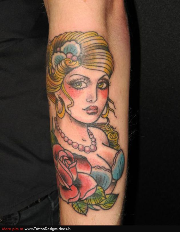 pinup tattoos | Pin Up Tattoos pinup
