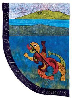 Te Taniwha O Pupuke-Moana by Sarah Ward