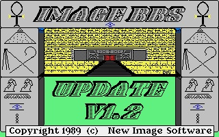 The first real BBS software I used for my first real BBS: New Image BBS for the C64... Asgard BBS, 24/7, warez, games, active and interest message boards.  This was the best BBS software on any platform/machine, imho.  Nothing ever compared to it.
