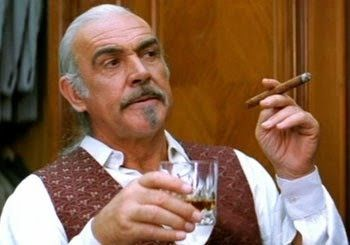 Sean Connery, scotch and cigars