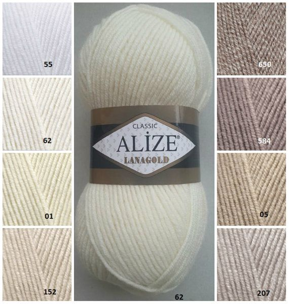 ALİZE LANAGOLD classic yarn wool yarn knitting by KnittingAndYarns
