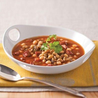 Soupe de lentilles, pois chiches et chorizo - Recettes - Cuisine et nutrition - Pratico Pratique