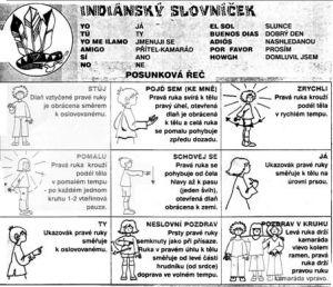 indiánský slovíček