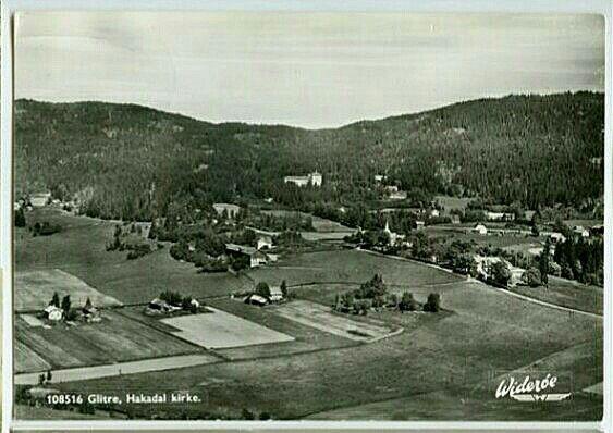 Akershus fylke Nittedal kommune Hakadal kirke og Glitre sanatorium tidlig 1900-tall Utg Widerøe