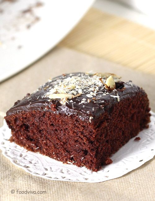 How to Make Eggless Chocolate Cake with Chocolate Ganache - Recipe with Step by Step Photos