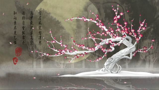 My wife and I developed the story about a pair of Plum Flower Deer, (native to parts of China), who are separated by an act of man but are rejoined in spirit. The Plum Flower Deer is one of the most auspicious, divine animals in Chinese culture. The Plum Flower Tree itself has been the subject of innumerable paintings and poems, representing courage and elegance. The film drew on Chinese tradition, and art. The film's closing poem, by 12th century Southern Song Dynasty Chinese poet Lu You…