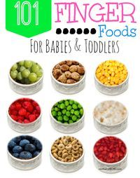 Think outside the box and try some of these! Finger Foods for Babies and Toddlers via Mother's Niche