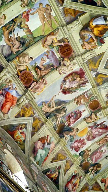 Techo Capilla Sixtina. Ciudad del Vaticano.
