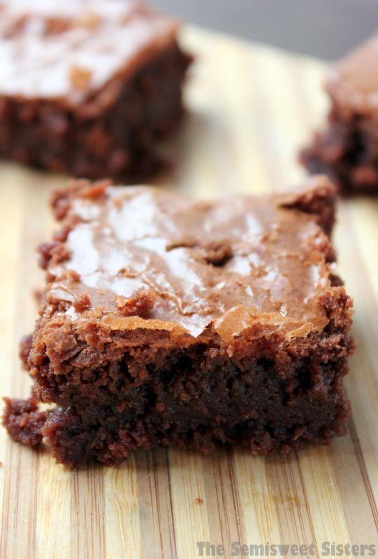 The New York Times Best Chewy Fudgy Brownie Recipe! I love the flaky top!