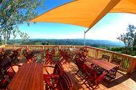 Terrasse : Weingut Rebenhof Urlaub Südsteiermark Aussicht Slowenien