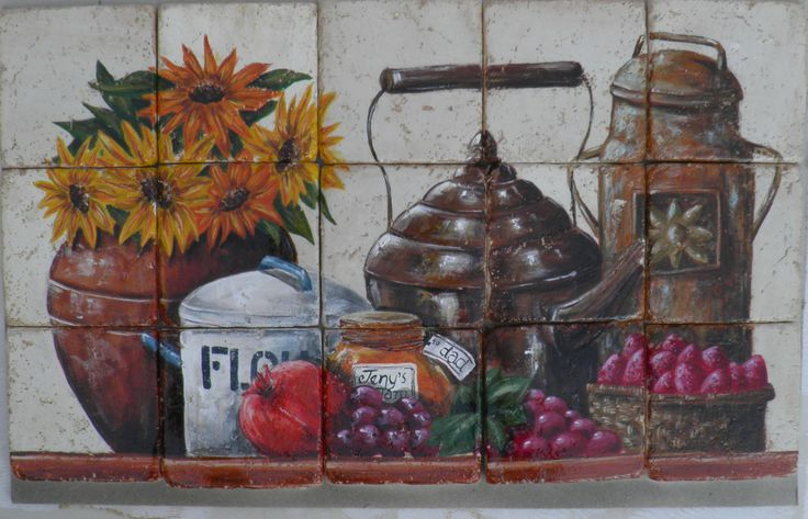 tile kitchen decor old object. dimension of 28.6 x 36.9cm.