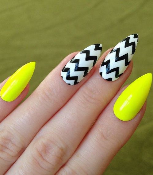 Beautiful Yellow Nail Designs