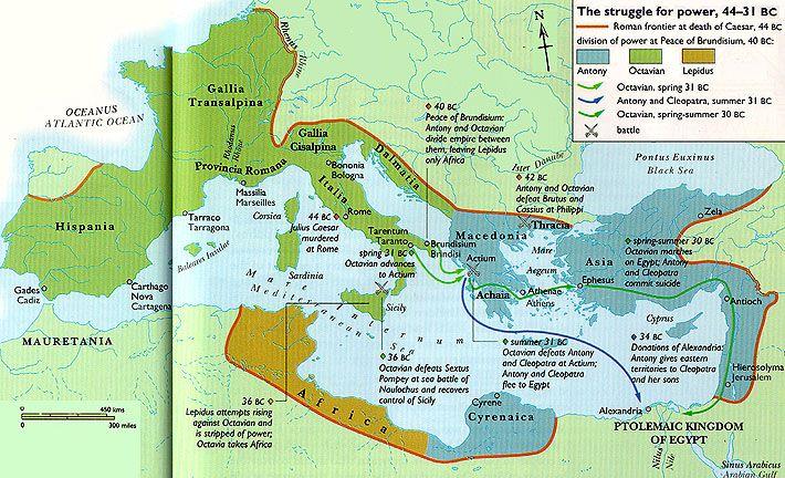 Division of Roman Republic among 2nd Triumvirs