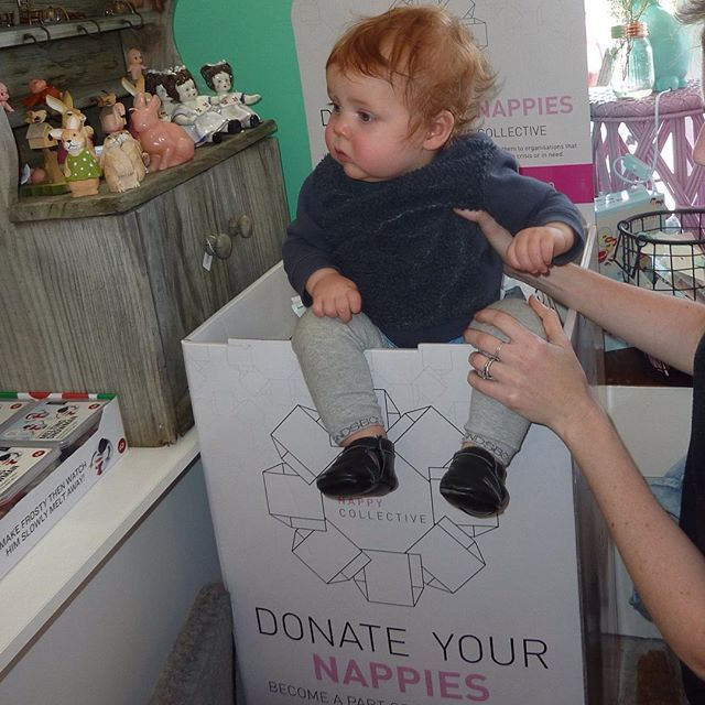 DONATE. We just donated our unused newborn nappies to @thenappycollective donation box at @invitemeshop . There's still time to help this fantastic cause donating nappies to women's shelters. #nappies #donate #newborn #nappycollective #baby