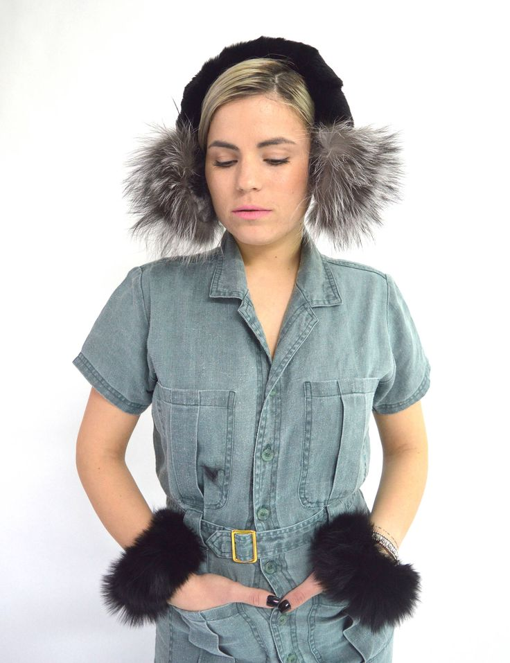 Excited to share the latest addition to my #etsy shop: Real Fur earmuffs, fur ear warmers, silver fox fur ears, real fur ears , winter fur ear muffs, ear warmers. Fur ears.Black Rex fur ears. #accessories #realfurearmuff #foxfurearmuffs #winterearmuffs #earwarmers #furwinterearmuffs