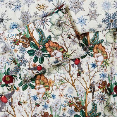 Påslakanset Snowflake, 150x210 cm, 50x60 cm, Mörkgrå - Heminredning - Hemtextil - Hemtex