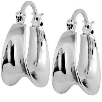 Silver gipsy hoop earrings - BEE-34799