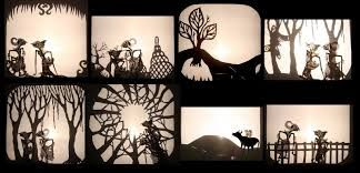 Wayang kulit.  Indonesian shadow puppet theatre.