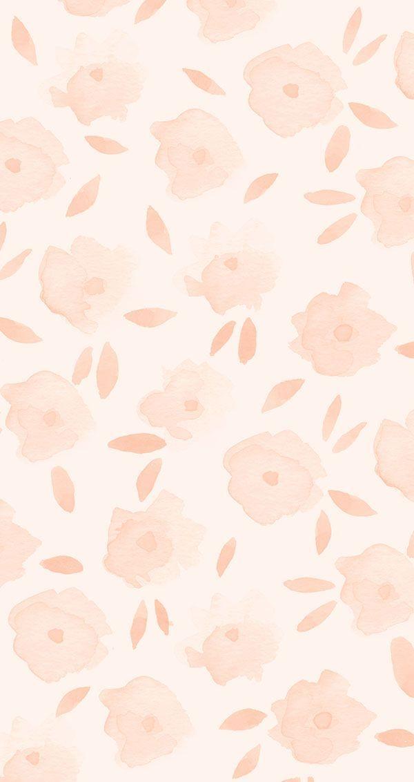 Pink floral iPhone wallpaper on LaurenConrad.com