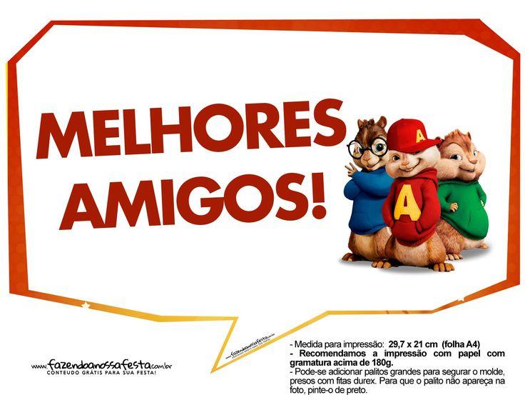 Plaquinhas Alvin e os Esquilos 13