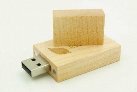 Cuboid Shape Wooden USB Drive
