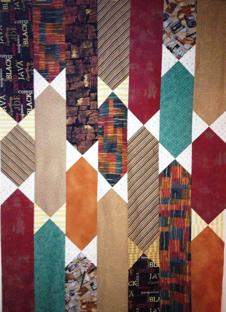 Necktie Quilting Patterns : Best 25+ Necktie Quilt ideas on Pinterest Tie quilt, Patchwork patterns and Scrap quilt patterns