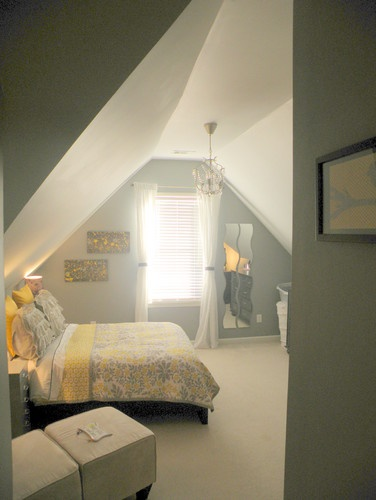 Attic Bedroom. Different colors, but getting ideas for when we finish our attic!