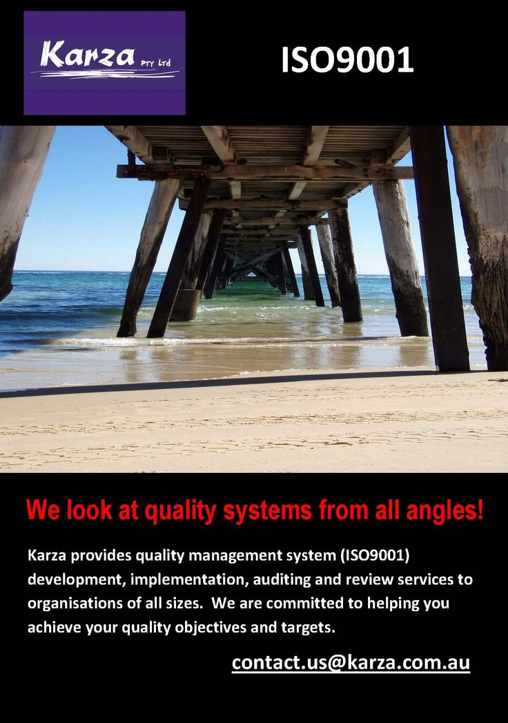 We look at quality systems from all angles!  Karza provides quality management system (ISO9001) development, implementation, auditing and review services to organisations of all sizes.  We are committed to helping you achieve your quality objectives and targets.