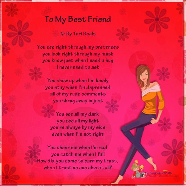 I Love My BFF Poems | To My Bestfriend - bestfriend-poems ...Quotes About Three Best Friends Forever