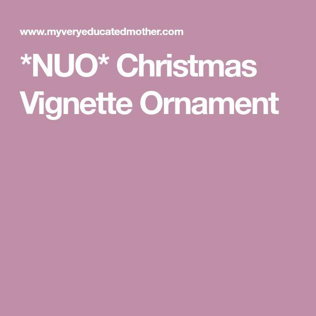 *NUO* Christmas Vignette Ornament