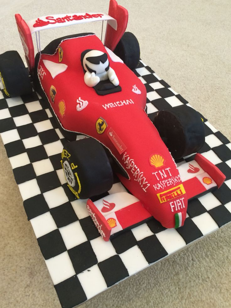 Ferrari formula one racing car cake 40th birthday ideas for F1 car cake template