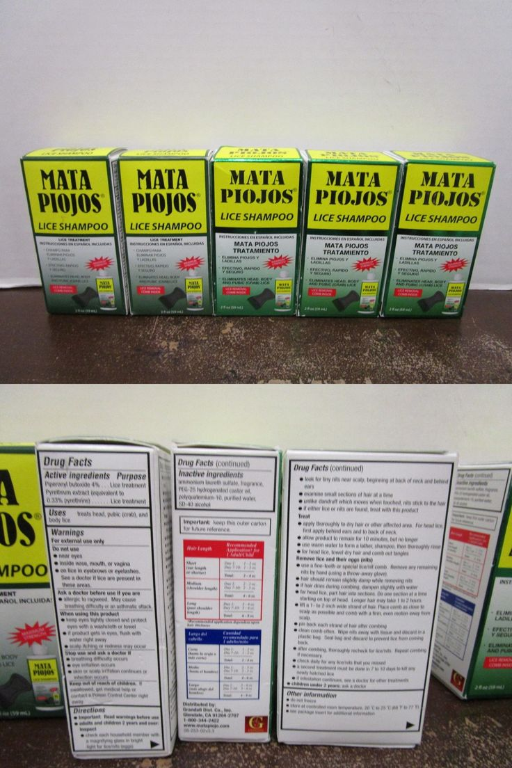 Medicated Hair Treatments: 5 Mata Piojos Lice Shampoo 2 Fl Oz With Comb Exp: 2/17+ Mm 7707 BUY IT NOW ONLY: $32.49
