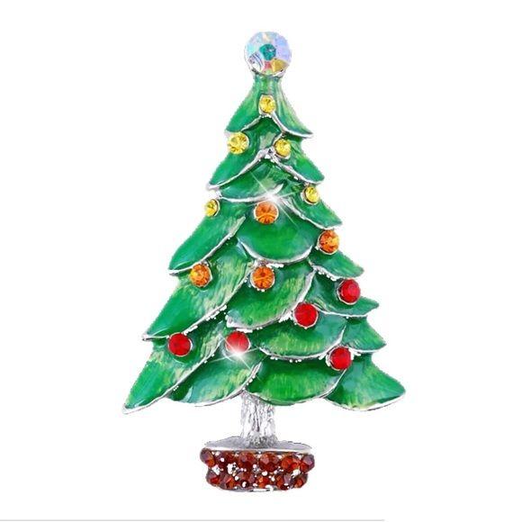 Crystal Christmas Tree Brooch Crystal Christmas Tree Beautiful Christmas Decorations Christmas Tree