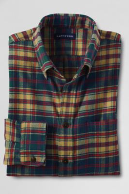 Men's Long Sleeve Flannel Shirt from Lands' End    I want a men's flannel shirt because it's comfy.