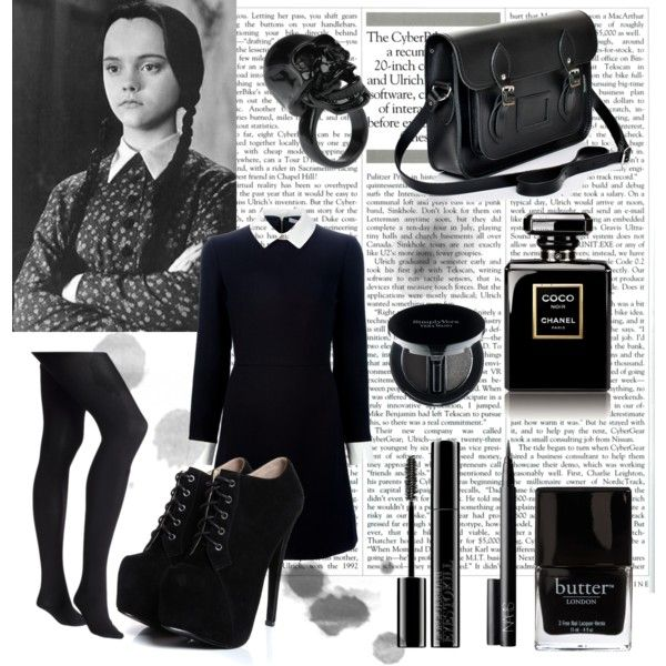 wednesday addams by lilyshipwreck on polyvore halloween queenhalloween diyhalloween costumeswednesday - Halloween Costumes Wednesday Addams