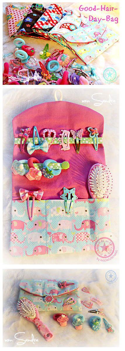 Der Stickbär | Designbeispiel: Haarspangentasche 18x30