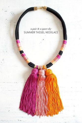 diy summer tassel necklace