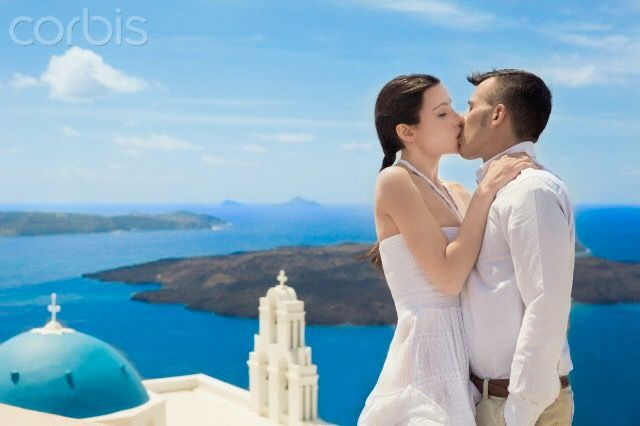 A passionate kiss. Santorini island, Greece - selected by www.oiamansion.com