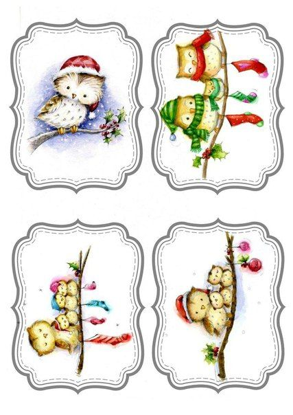 Christmas Tags -- pinning these whole but just crop down to the one you want to use in cw ;)